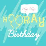 כרטיס ברכה Hip Hop טורקיז